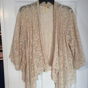 Vintage Lace Chenault Off-White Shawl